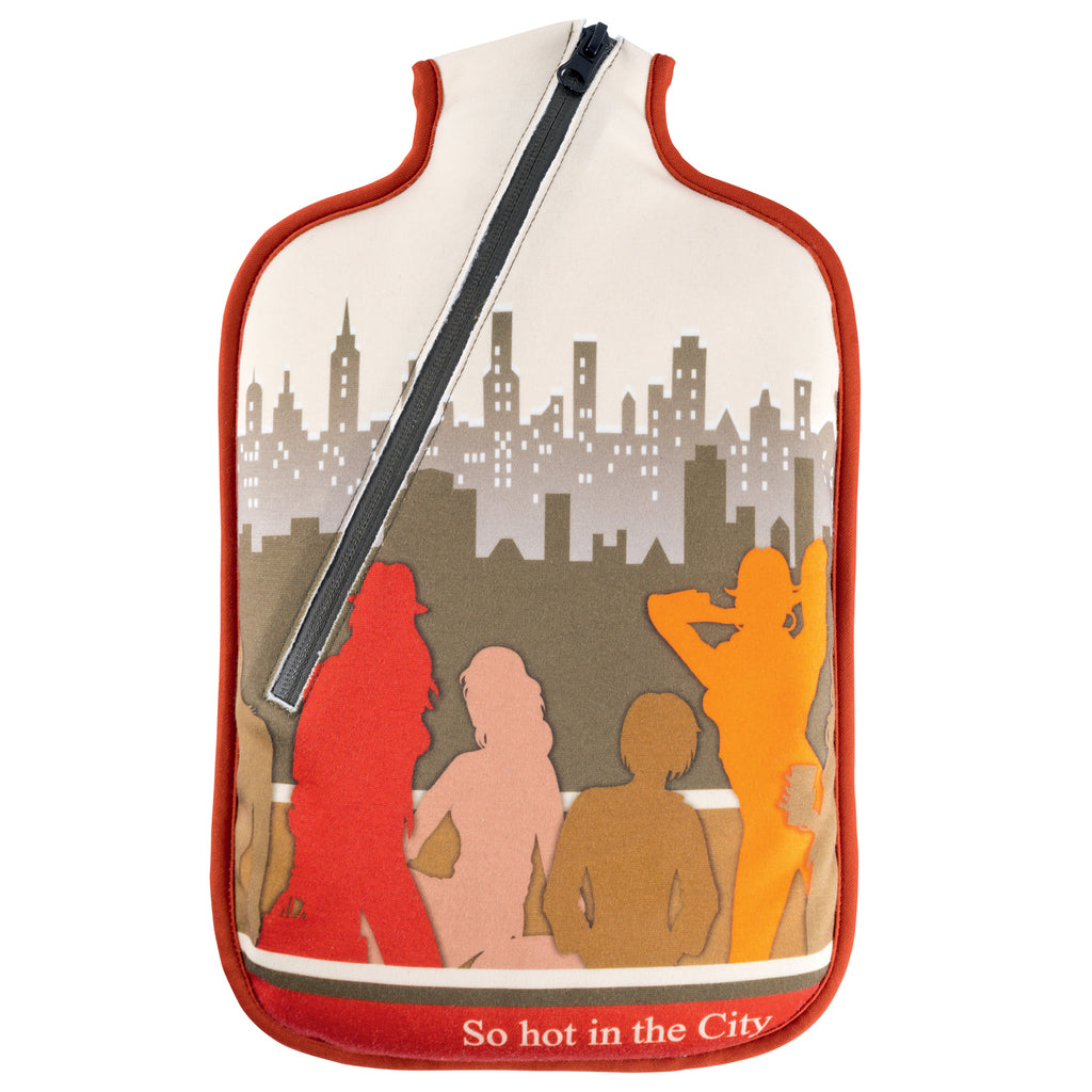 "2 litre ""Eco-Sustainable"" Hot Water Bottle with ""So Hot In The City"" Zip Cover (rubberless)"