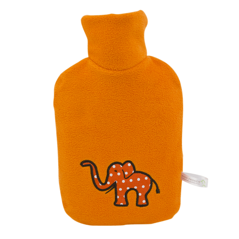 "0.8 litre ""Eco-Sustainable"" Hot Water Bottle with Elephant Cover (rubberless)"