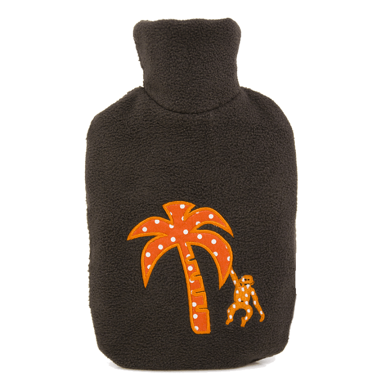 "0.8 litre ""Eco-Sustainable"" Hot Water Bottle with Palm Tree Cover (rubberless)"