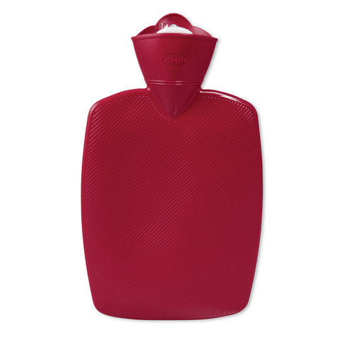 1.8 Litre Part Ribbed Red Hot Water Bottle (rubberless) - Hotwaterbottleshop.co.uk