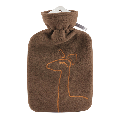 1.8 Litre Classic Hot Water Bottle with Giraffe Cover (rubberless) - Hotwaterbottleshop.co.uk