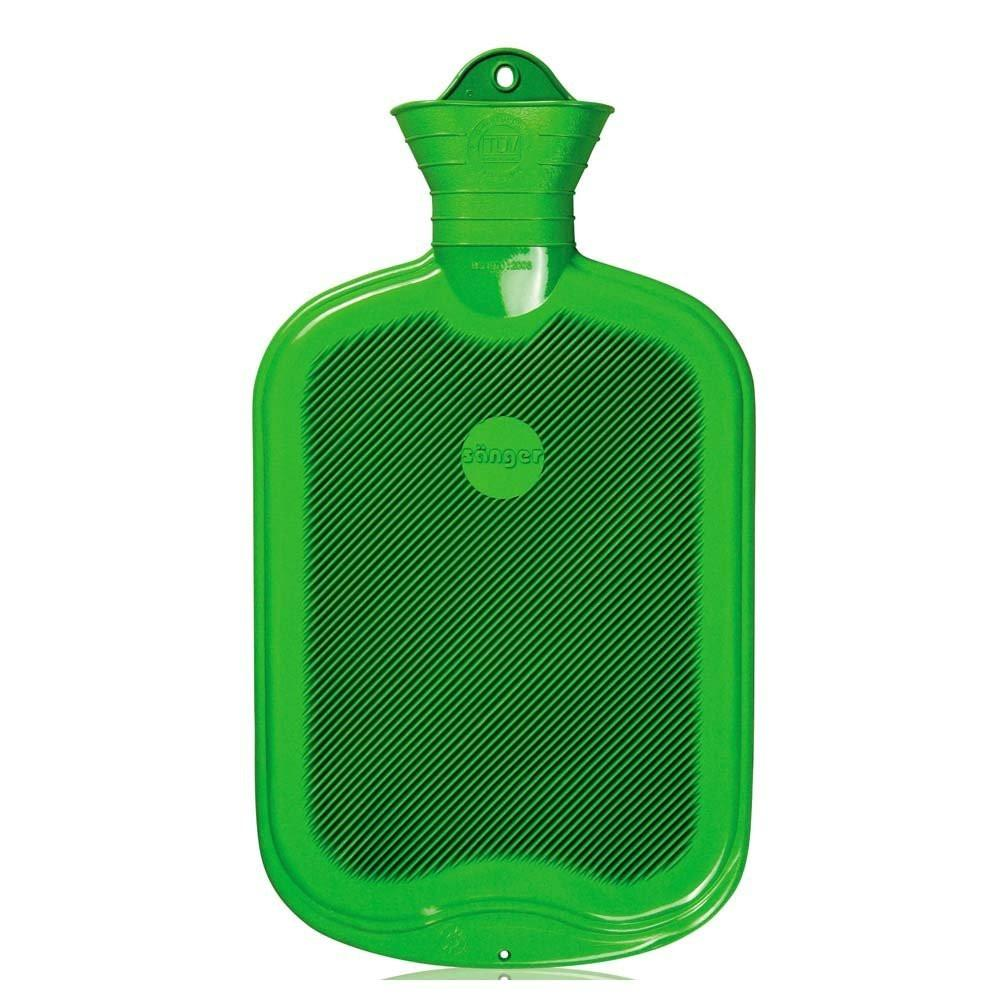 2 Litre Green Sanger Hot Water Bottle - Hotwaterbottleshop.co.uk