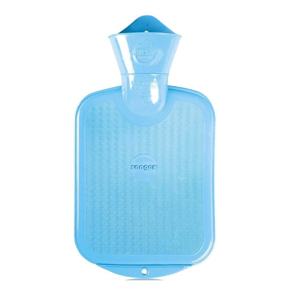 0.8 Litre Light Blue Sanger Hot Water Bottle - Hotwaterbottleshop.co.uk