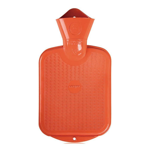 0.8 Litre Orange Sanger Hot Water Bottle - Hotwaterbottleshop.co.uk