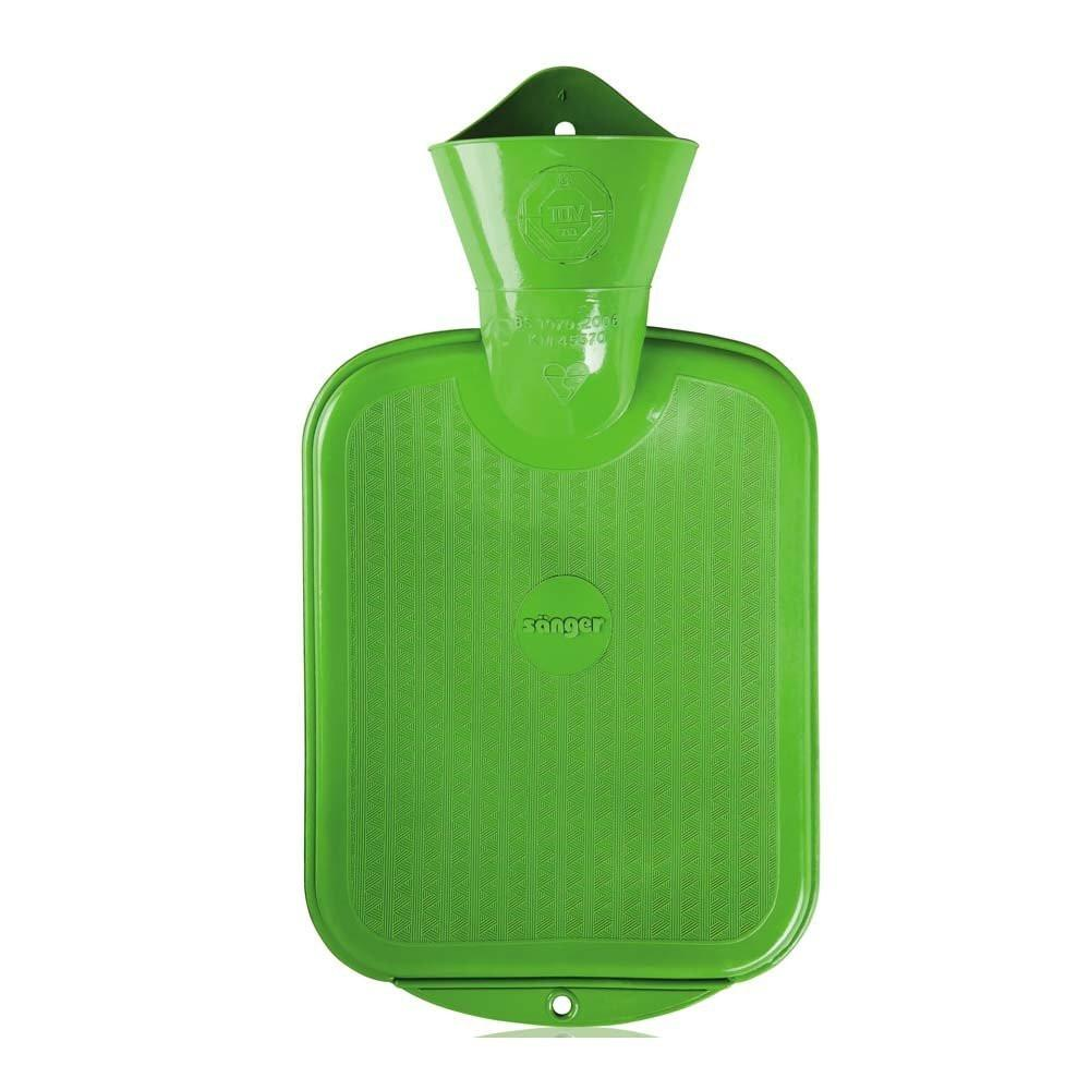 0.8 Litre Green Sanger Hot Water Bottle - Hotwaterbottleshop.co.uk