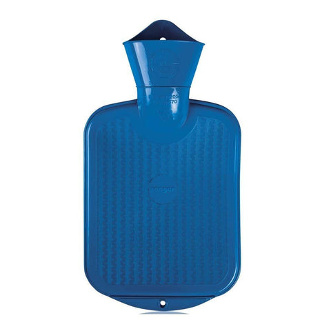 0.8 Litre Dark Blue Sanger Hot Water Bottle - Hotwaterbottleshop.co.uk