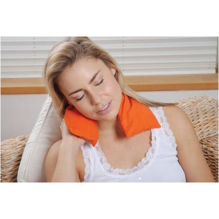 Orange Soothing Microwaveable Body Wrap - Lifestyle on Shoulders