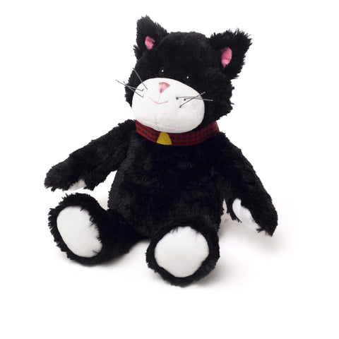 Cozy Plush Black Cat Microwave Animal - Hotwaterbottleshop.co.uk