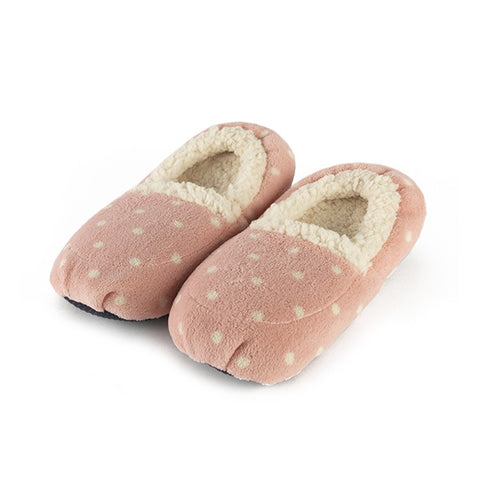 Luxury Heatable Polka Pink Cozy Body Slippers - Hotwaterbottleshop.co.uk