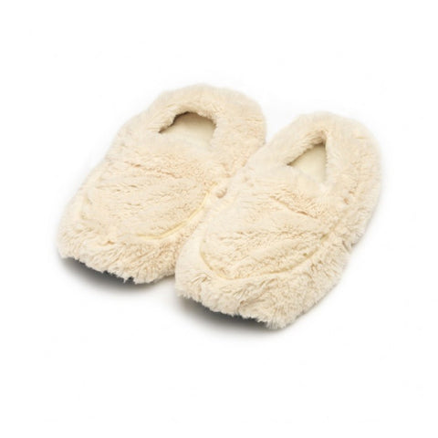 Luxury Heatable Cream Cozy Body Slippers - Hotwaterbottleshop.co.uk
