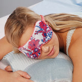 Pink Flowers Printed Cotton Microwave Luxury Eye Mask - Hotwaterbottleshop.co.uk