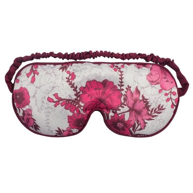 Pink Flowers Printed Cotton Microwave Luxury Eye Mask