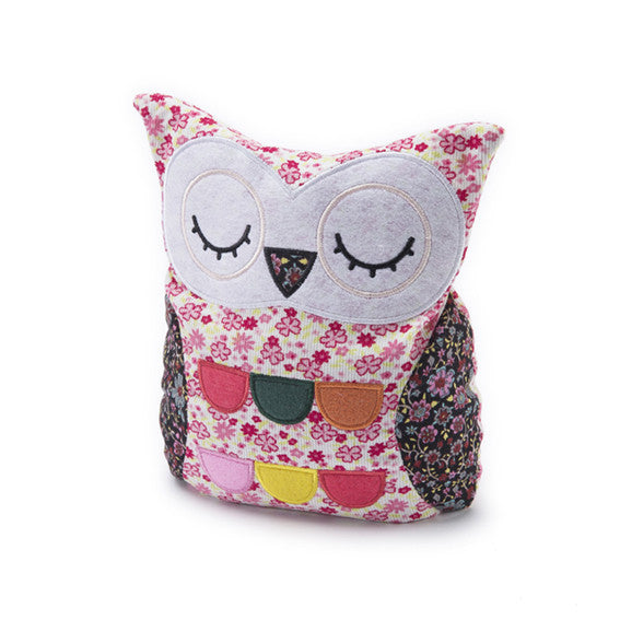 Floral Pink Hooty Microwave Owl - Hotwaterbottleshop.co.uk