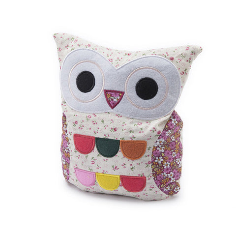Floral Cream Hooty Microwave Owl (final few!)