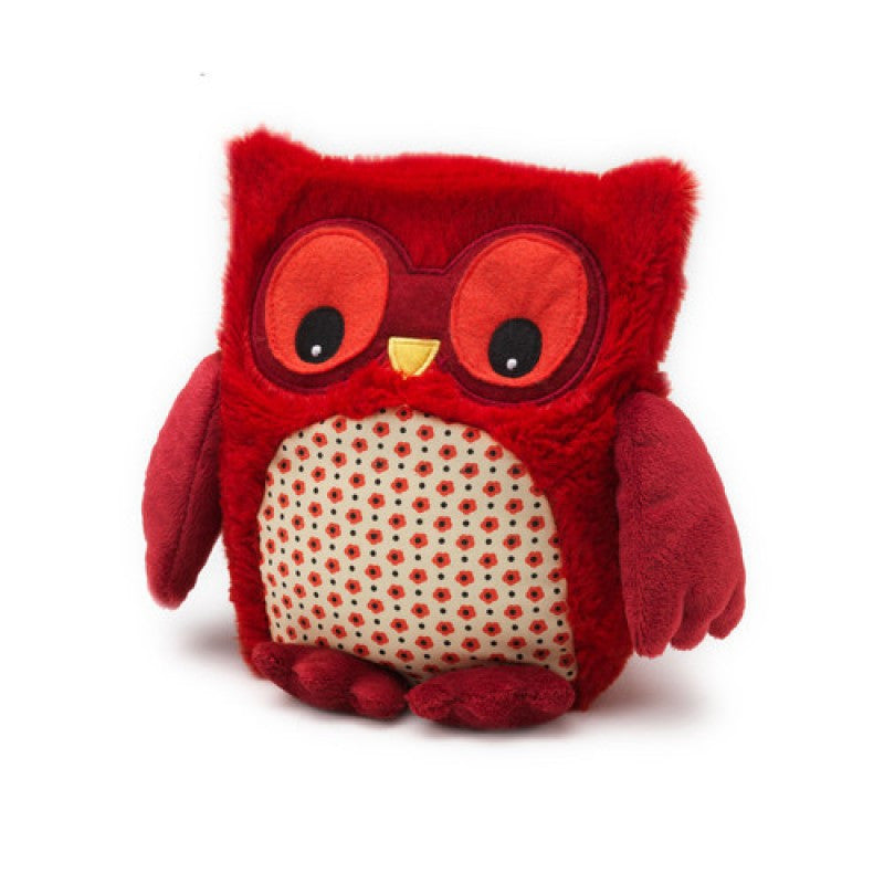 Red Hooty Microwave Owl - Hotwaterbottleshop.co.uk