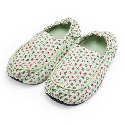 Green Hot Pak Microwave Slippers - Hotwaterbottleshop.co.uk