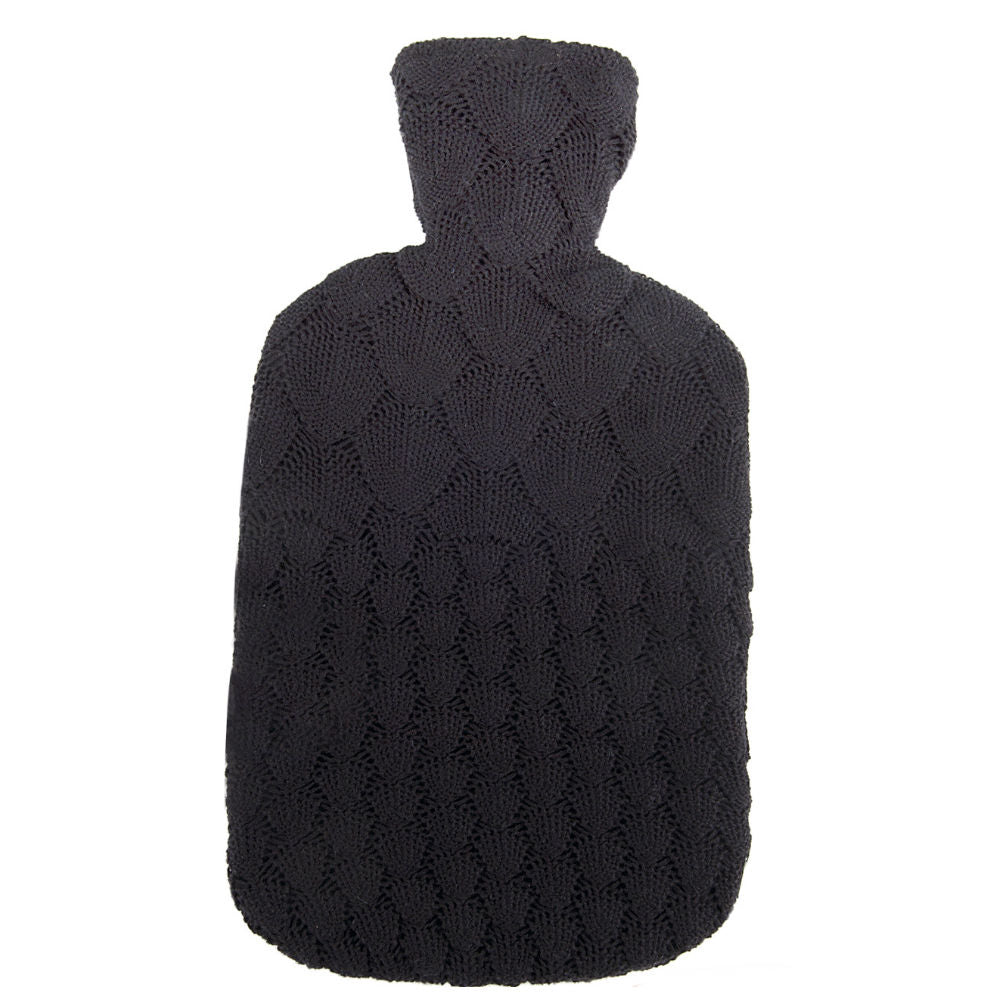 2 Litre Sanger Hot Water Bottle with Knitted Shell Cotton Cover