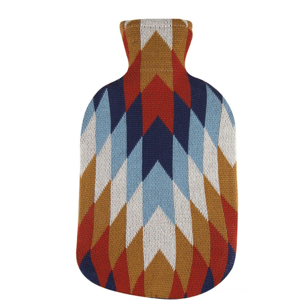 2 Litre Sanger Hot Water Bottle with Knitted Jaime Cotton Cover