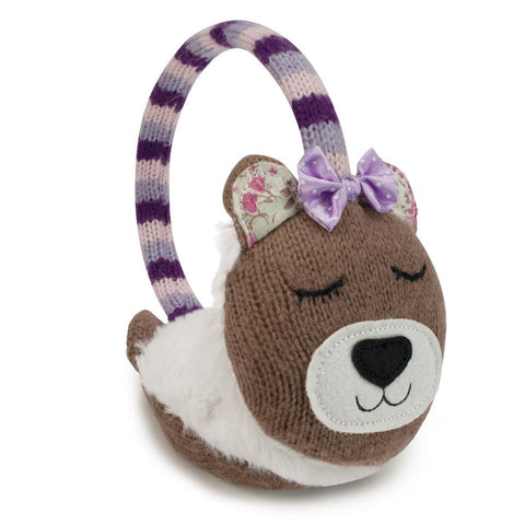 Knitted Bear Animal Ear Muffs - Hotwaterbottleshop.co.uk