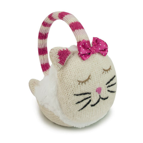 Knitted Cat Animal Ear Muffs - Hotwaterbottleshop.co.uk
