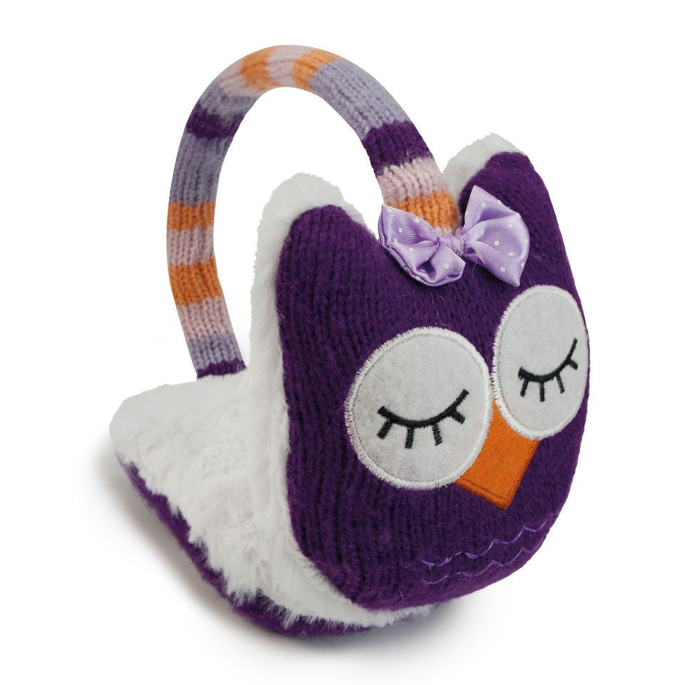 Knitted Owl Animal Ear Muffs - Hotwaterbottleshop.co.uk