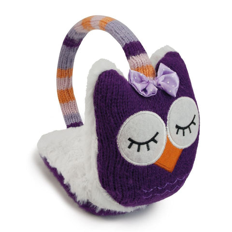 Knitted Owl Animal Ear Muffs