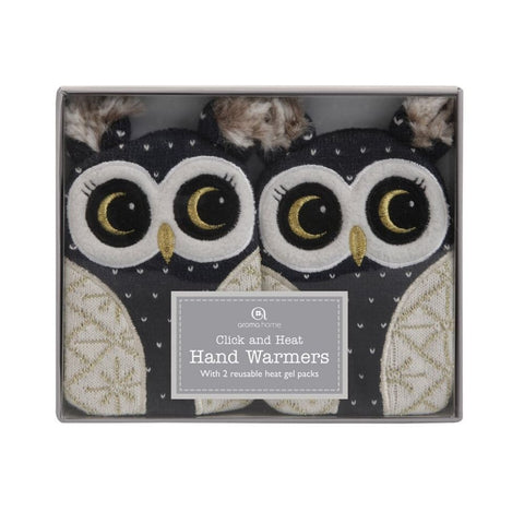 Knitted Owl Animal Gel Hand Warmers