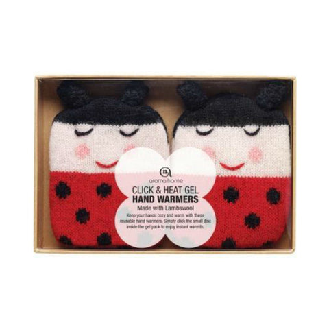 Knitted Ladybird Animal Gel Hand Warmers