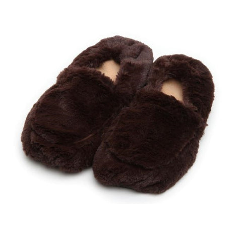 Luxury Heatable Brown Cozy Body Slippers
