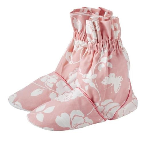 Meadow Pattern Microwave Feet Warmers - Rose