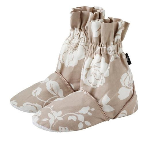 Meadow Pattern Microwave Feet Warmers - Taupe