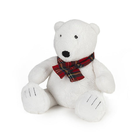 Cozy Plush Polar Bear Microwave Animal Toy