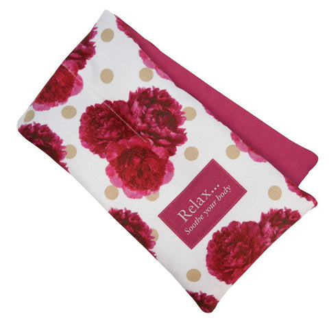 Peony Scented Floral Microwaveable Body Wrap - Hotwaterbottleshop.co.uk