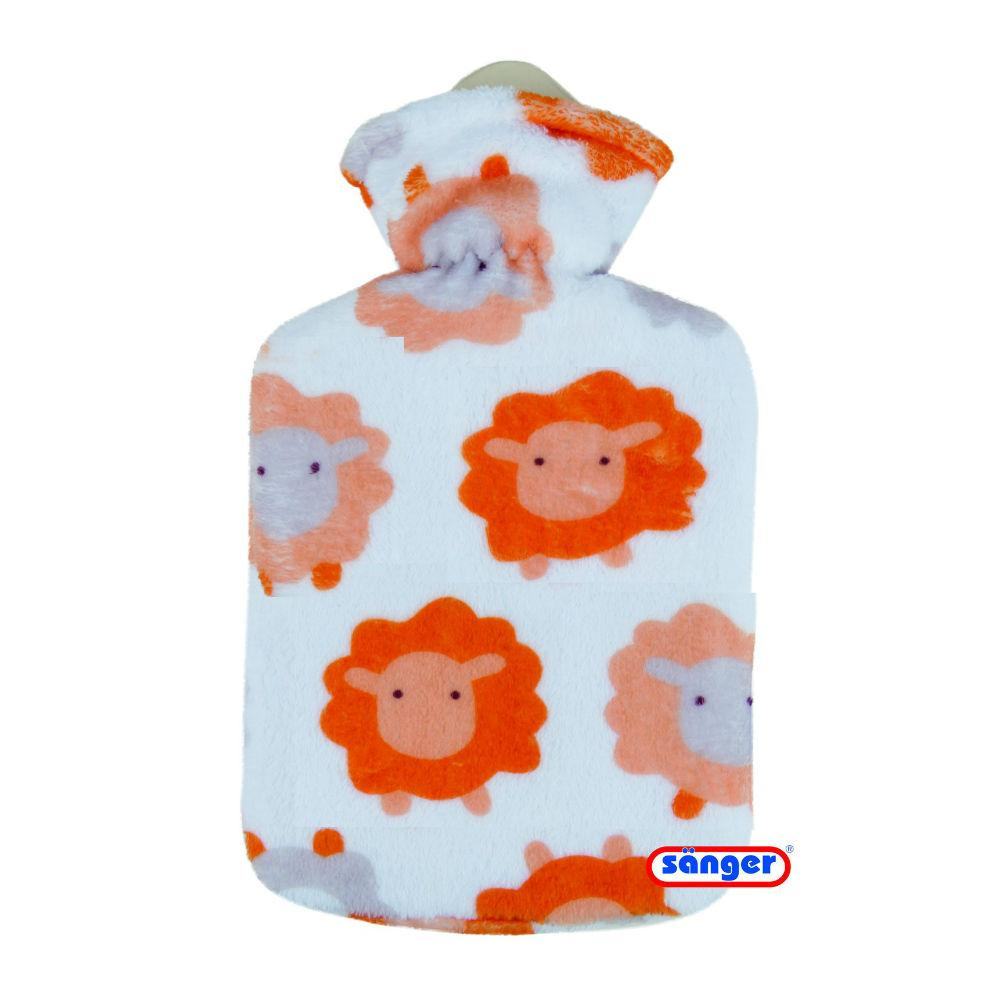 0.8 Litre Sanger Hot Water Bottle with Sheep Fleece Cover