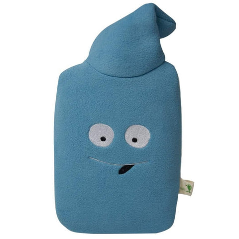 "0.8 litre ""Eco-Sustainable"" Hot Water Bottle with Smiley Fleece Cover (rubberless)"