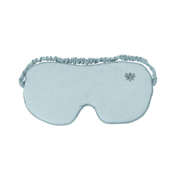 Luxury Sky Blue Cotton Eye Mask - Hotwaterbottleshop.co.uk