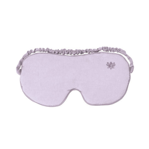 Luxury Lilac Cotton Eye Mask - Hotwaterbottleshop.co.uk