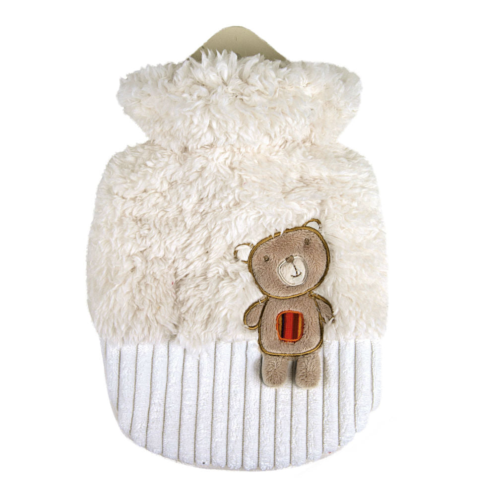 0.8 Litre Sanger Hot Water Bottle with Cuddly Teddy Bear Cover
