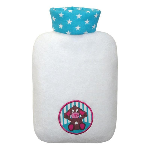 "0.8 litre ""Eco-Sustainable"" Hot Water Bottle with Dog Cover (rubberless) (final few!) - Hotwaterbottleshop.co.uk"