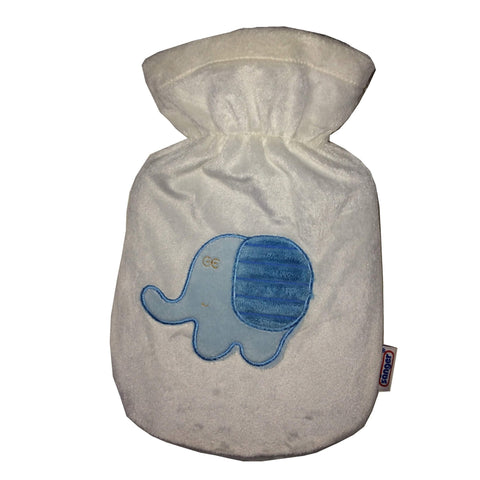 0.8 Litre Sanger Hot Water Bottle with Elephant Cover - Hotwaterbottleshop.co.uk