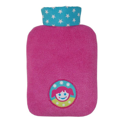 "0.8 litre ""Eco-Sustainable"" Hot Water Bottle with Girl Cover (rubberless) (final few!) - Hotwaterbottleshop.co.uk"