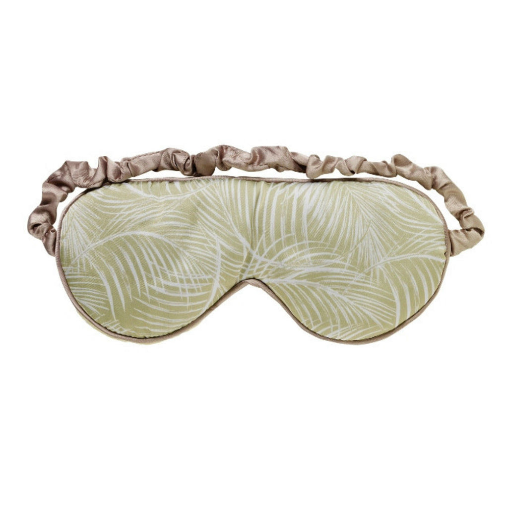 Green Ferns Printed Cotton Microwave Luxury Eye Mask - Hotwaterbottleshop.co.uk