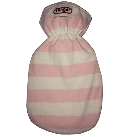 0.8 Litre Sanger Hot Water Bottle with Pink and White Cover