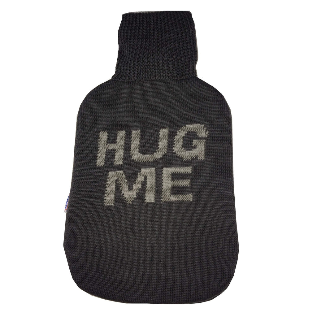 2 Litre Sanger Hot Water Bottle with Knitted Hug Me Cotton Cover