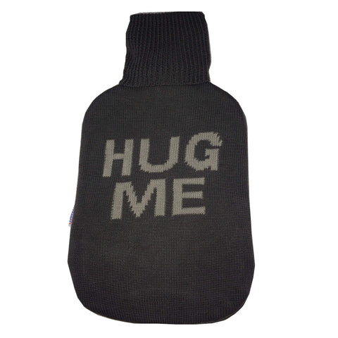 2 Litre Sanger Hot Water Bottle with Knitted Hug Me Cotton Cover - Hotwaterbottleshop.co.uk