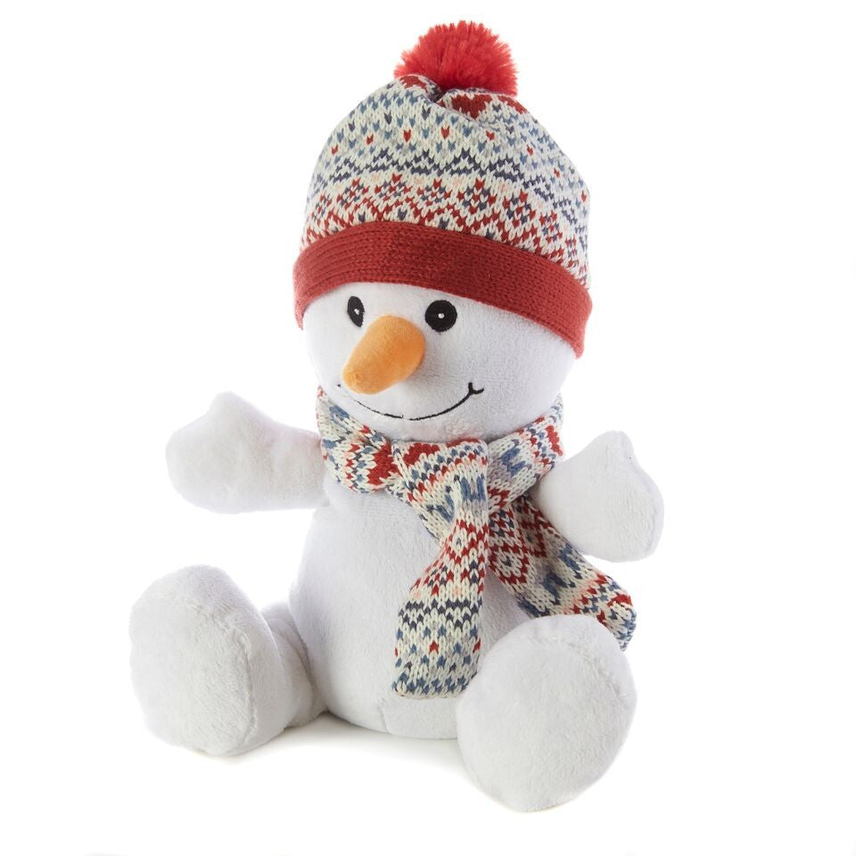 Cozy Plush Snowman Toy - Hotwaterbottleshop.co.uk