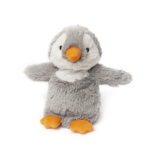 Cozy Plush Grey Penguin Microwave Animal Toy