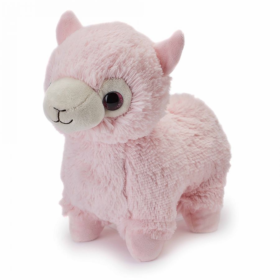 Cozy Plush Pink Alpaca Microwave Animal Toy