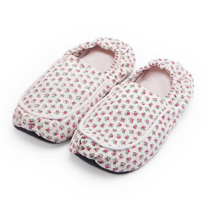 Pink Hot Pak Microwave Slippers - Hotwaterbottleshop.co.uk