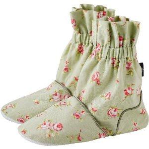 Rose Bud Microwave Feet Warmers Sage - Hotwaterbottleshop.co.uk